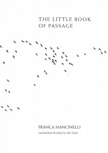 Franca Mancinelli, The Little Book of Passage, Bitter Oleander Press, 2018