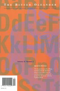 Laurence Werner David, Is It, So Far?, Bitter Oleander, Volume 16, No. 2, 2010
